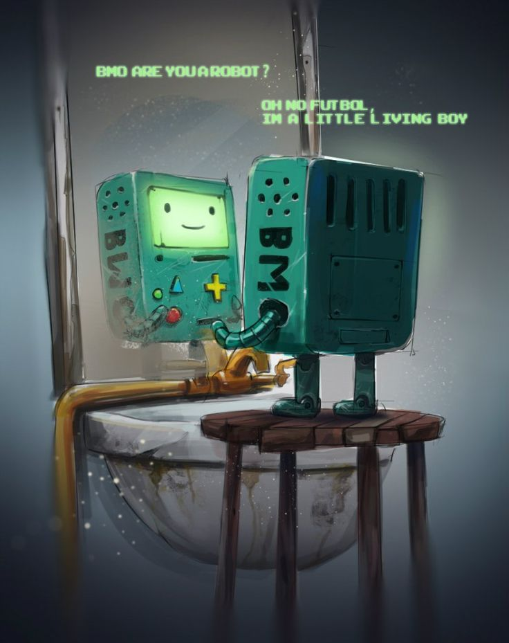 BMO by Liquidinsane.deviantart.com on @deviantART, ah BMO you always make my day complete ^ - ^