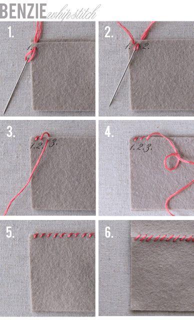 Noções básicas de bordado: ponto de chicote