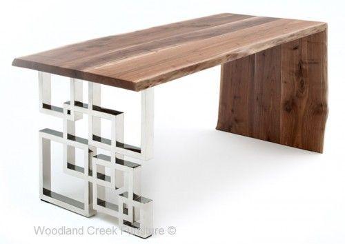 Modern Slab Wooden Desk