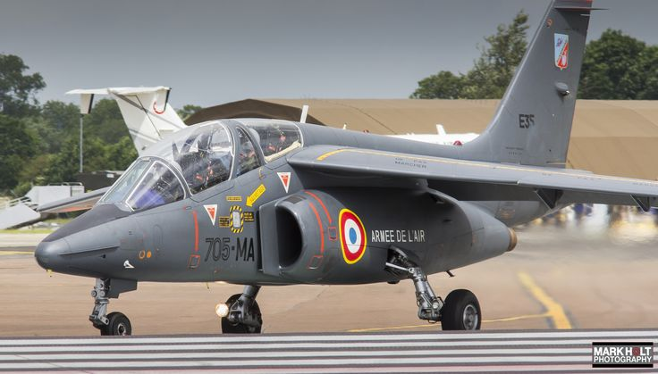 https://flic.kr/p/VgqLmz | E35/705-MA | 11th July 2016 - Dassault Alpha Jet E 'E35/705-MA'  of the French Armee de l'air taxis on to the active at the Royal International Air Tattoo.