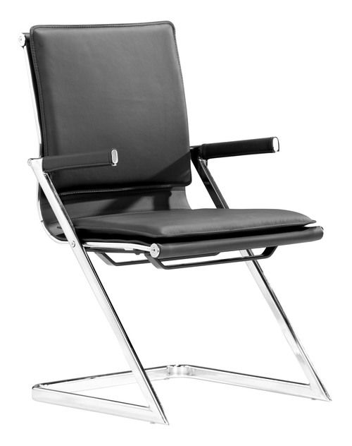 Zuo Modern Lider Plus Conference Chair  in Black (Set of 2)