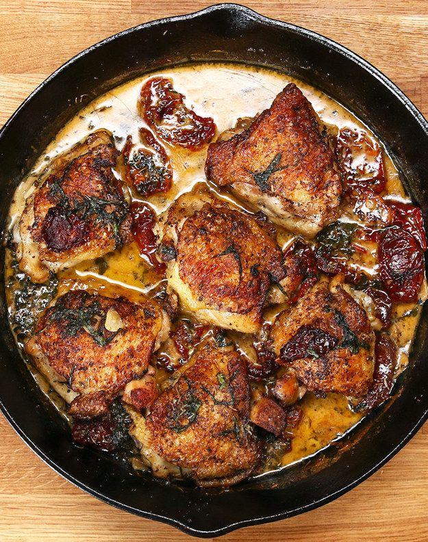 Chicken with Sun-Dried Tomato Cream Sauce