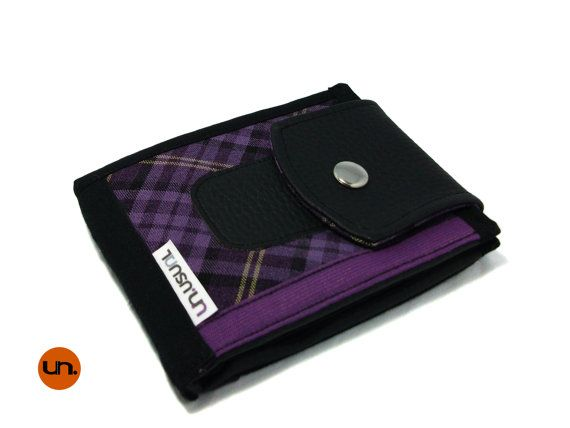 Vegan Wallet, Bifold Wallet, Cool Wallet, for Men, for Women, with Card Holder, Coin Pocket UNUSUAL - Handmade Custom Order