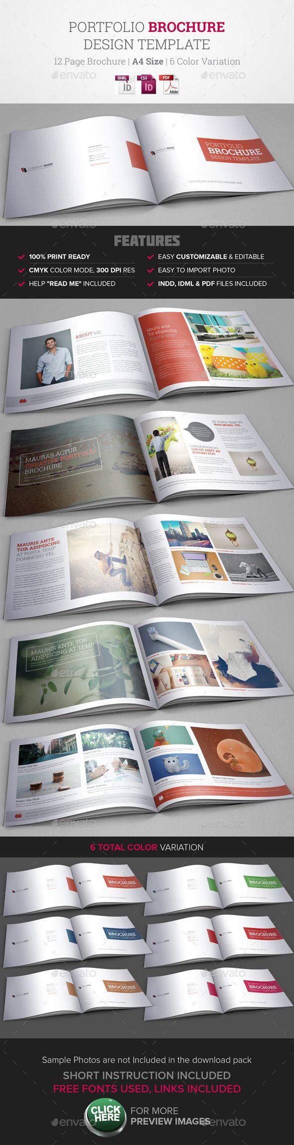Portfolio Brochure InDesign Template #design #printtemplate Download: http://graphicriver.net/item/portfolio-brochure-indesign-template/9740942?ref=ksioks