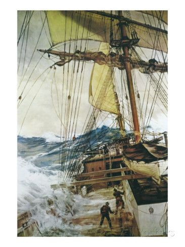 Rising Wind Giclee Print by Montague Dawson at AllPosters.com