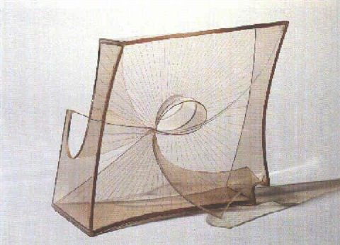 Construction in space: Crystal by Naum Gabo