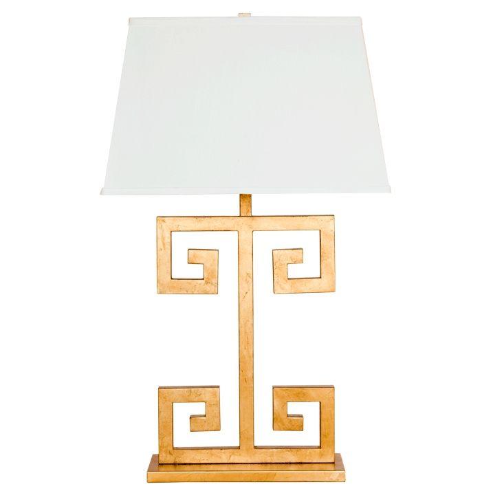 Clayton Greek Key Table Lamp By Worlds Away Clayton G Lamp Table Lamp Table Lamp Lighting