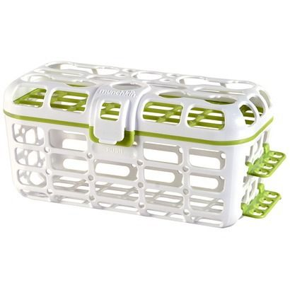 Munchkin Deluxe Dishwasher Basket - Update 1/2015 wish the basket was a little deeper.  The top portion for nipples works great!