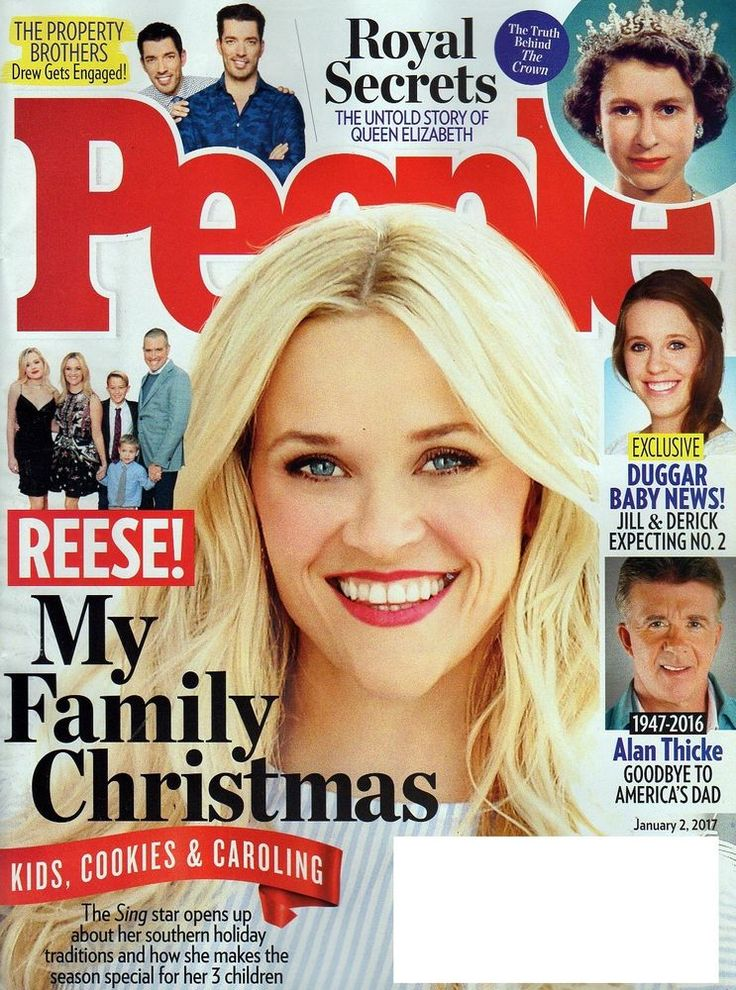PEOPLE MAGAZINE JANUARY 2 2017 ALAN THICKE QUEEN ELIZABETH PROPERTY BROTHERS USA