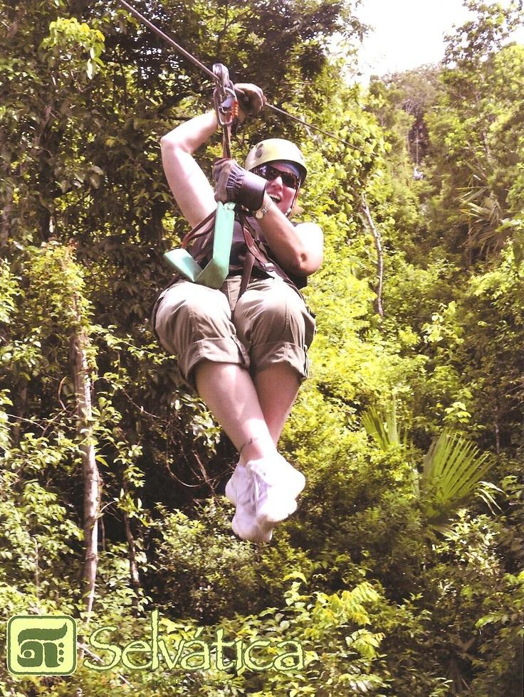 Zipline through the Mexican jungle