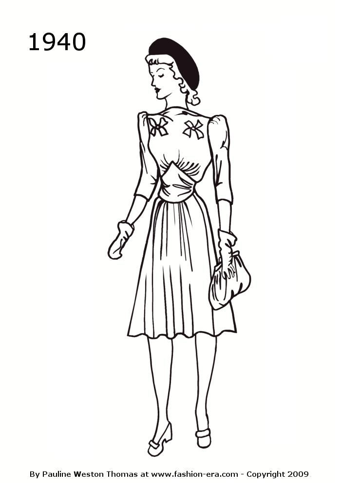 vintage coloring pages 1950s - photo#6