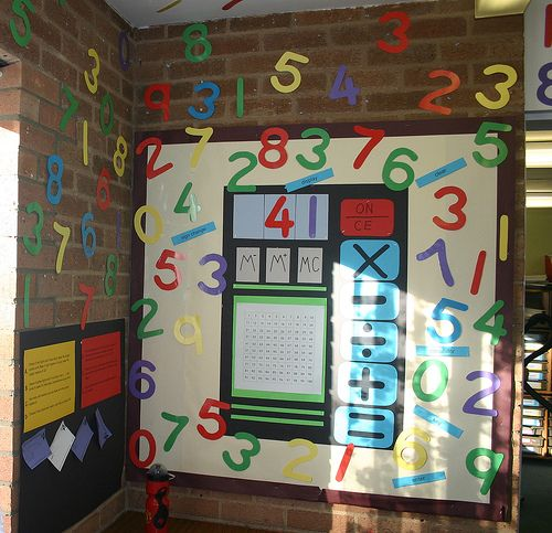 Here's an interactive math board that comes with problems to solve. Great idea!