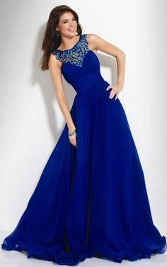 Long Blue Dress With Sleeves