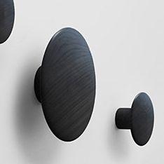 top3 by design - MUUTO NEW NORDIC - muuto the dots coat hooks blk