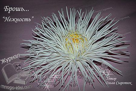Ольга Сыротюк поделилась с нами мастер классом по созданию игольчатой хризантемы из фоамирана. Такие хризантемы прекрасно впишутся как в интерьер,