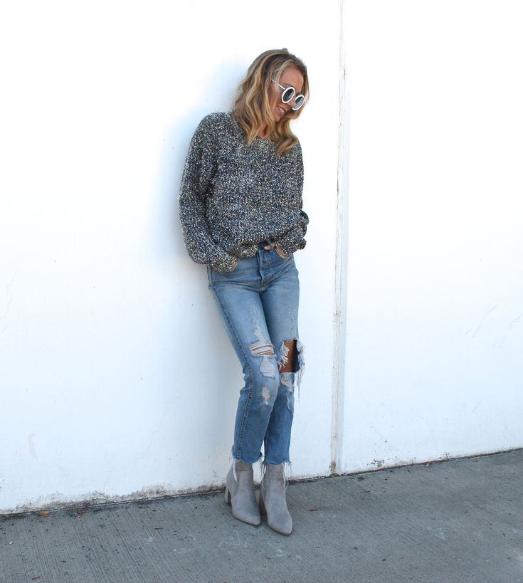 Styling A Metallic Sweater Two Ways - Jaclyn De Leon Style- fall outfit inspiration + holiday style + casual street style + what to wear this holiday + affordable style + forever 21 + how to style the metallic trend + mom style
