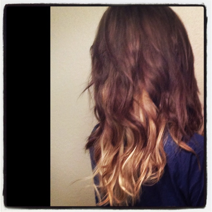 Dark with blonde underneath | Hair styles | Pinterest