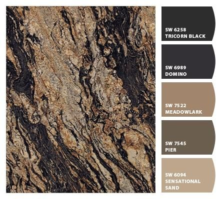 Formica 180fx® Magma Black paired with Sherwin-Williams paints!