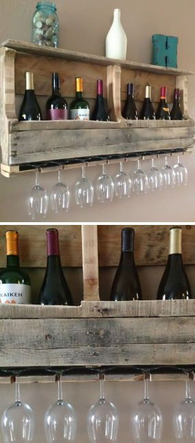 Natural Reclaimed Wood Wine Rack | Home Dining & Barware (WANT!!!)