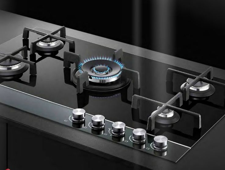 Gas on glass hob Fisher & Paykel