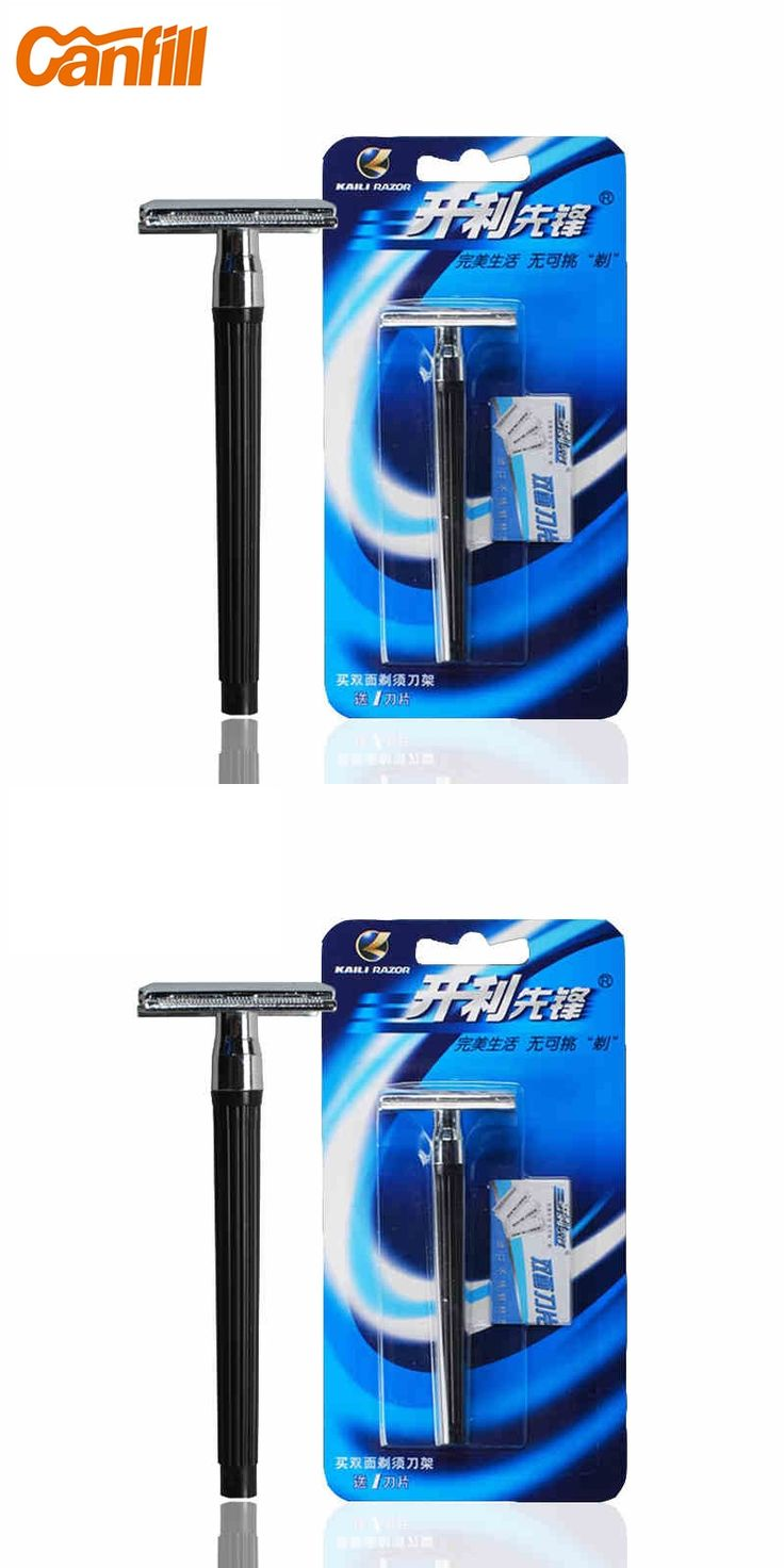 Canfill barber razor beard Men's Safety Razor Double Edge Blade Stainless Steel Classic Shaving Machine Hair Razor Manual KL-210