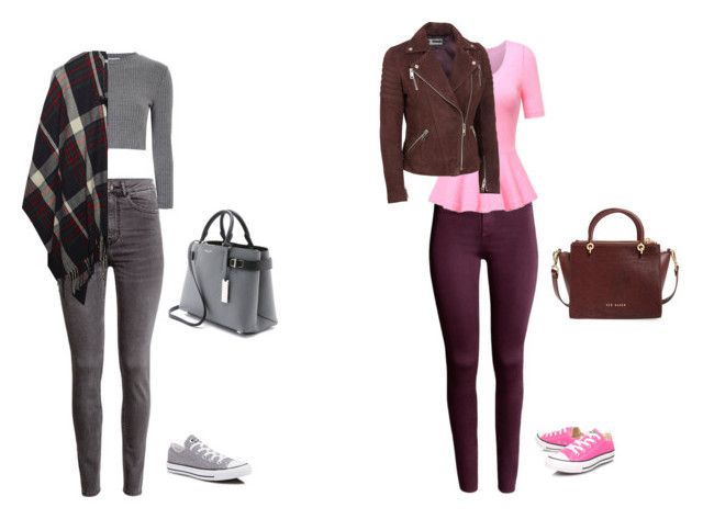 """""""Sans titre #10"""" by zeinab-ferahtia ❤ liked on Polyvore featuring H&M, Glamorous, Converse, Wet Seal, Wilsons Leather, Michael Kors and Ted Baker"""