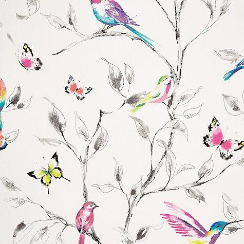 buy john lewis hummingbird trees wallpaper multi online at johnlewiscom - Girls Bedroom Wallpaper Ideas