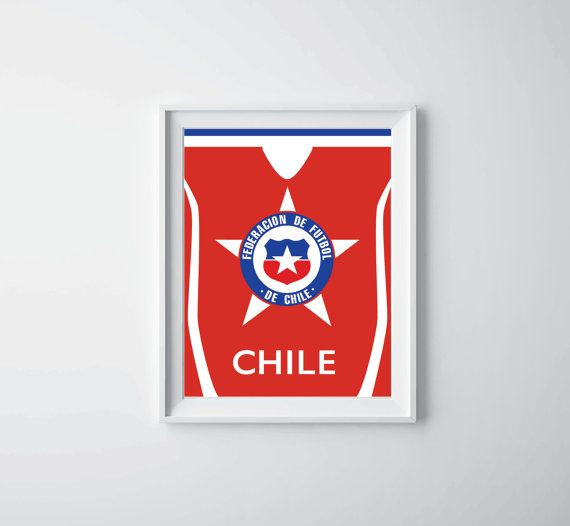 World Cup Poster Chile by XiroShop on Etsy, $8.99