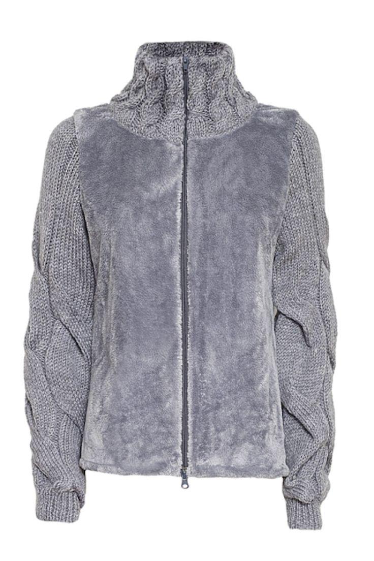 faux fur jacket gray