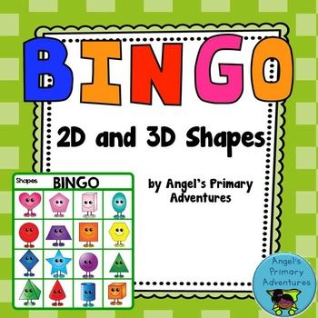 Ready for some 2D and 3D geometry fun? These Bingo cards feature the cutest little shapes, perfect to practice names and recognition. Containing 30 Bingo cards, as well as a set of calling cards, this game is sure to please. 2D shapes included are: circle, hexagon, pentagon, rectangle, rhombus (diamond), square, heart, oval, octagon, star, trapezoid, triangle 3D shapes included are: sphere, rectangular