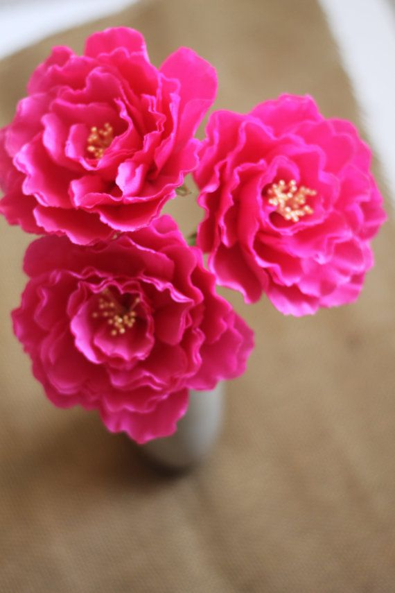 Handmade flowers-Six Paper Peony