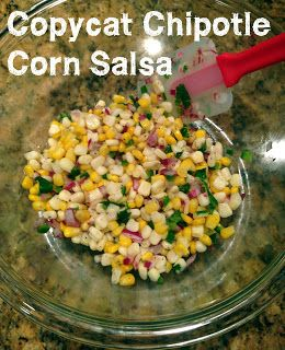 Copycat Chipotle corn salsa- seriously, so good! Just as good as the real stuff!