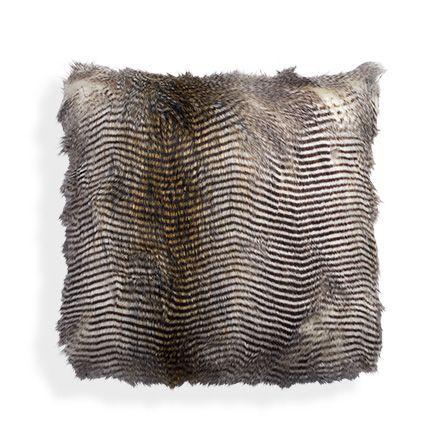 Faux Fur Feather Pillow