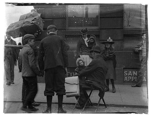 Street scene from 1880s, Victorian Newcastle
