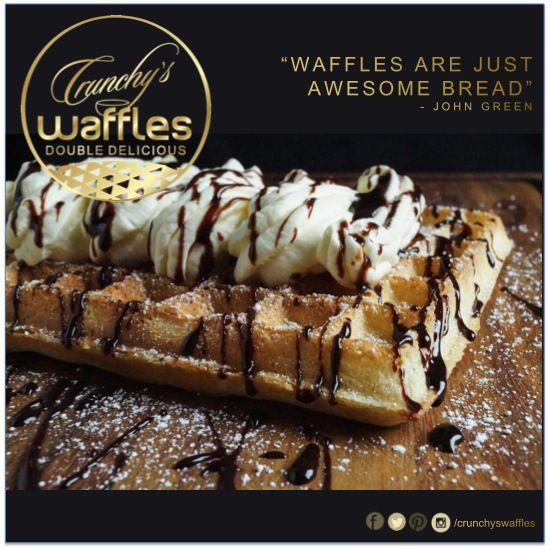 #Crunchyswaffles CRUNCHY's Waffles - Brussels Waffle