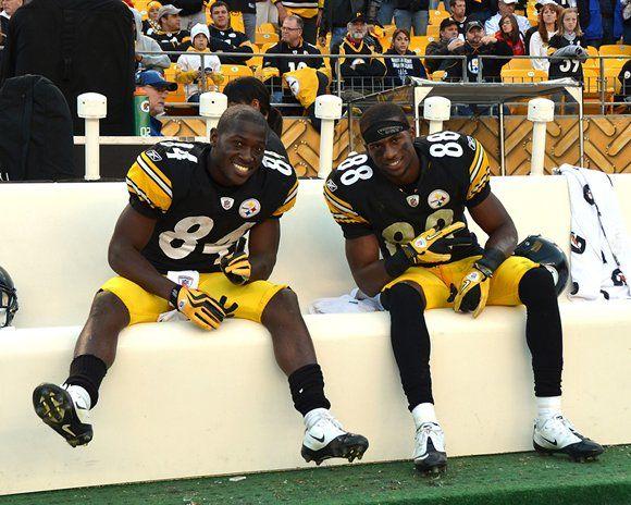 My boys! Antonio Brown and Emmanuel Sanders, Wide Receivers, Pittsburgh Steelers