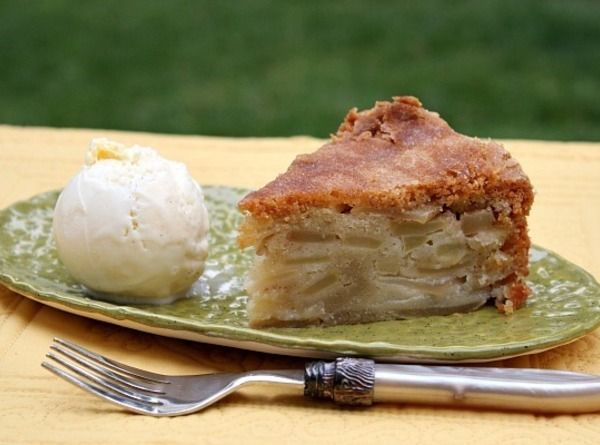 Cinnamon-Apple Pie Cake - Batter is poured on top of apples, no rolling dough out