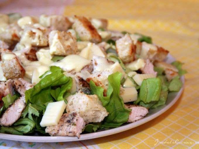 Rețetă Antreuri : Salata caesar cu sos de iaurt de Isabela
