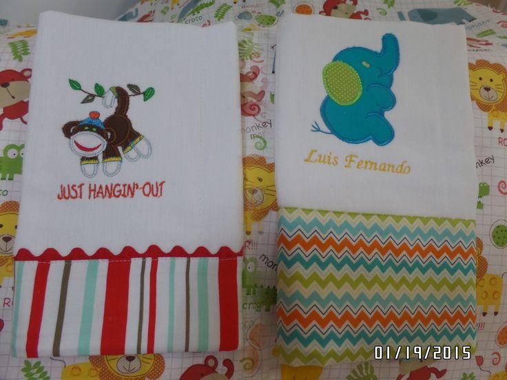 pao para bebe decorado en tela y applique en maquina