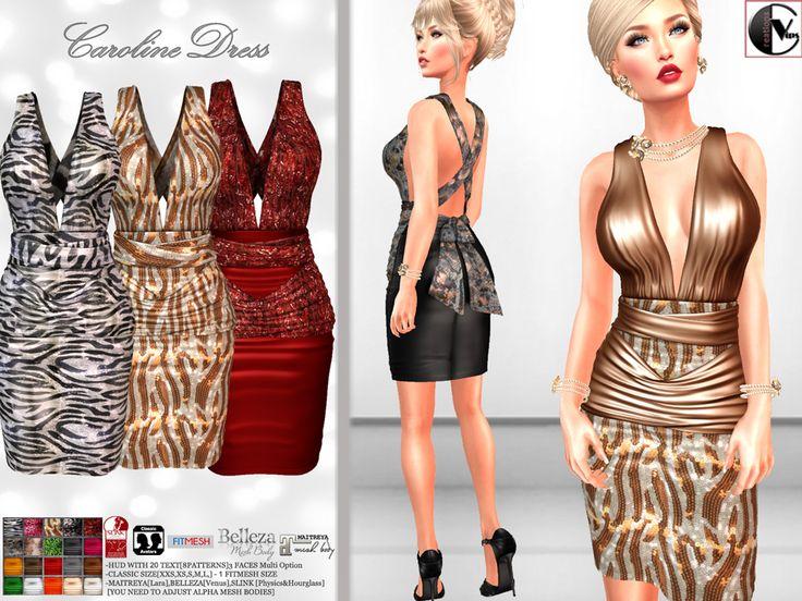 https://marketplace.secondlife.com/p/Vips-Creations-Female-Dress-CarolineHud-Sparkle-Animal-Dress/9792991