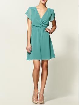 Seafoam dress: Minis Dresses, Spring Dresses, Emeralds Green Dresses, Elegant Dresses, Woman Dresses, Tulip Sleeve, Aqua Bridesmaid Dresses, Tinley Roads, Sleeve Minis