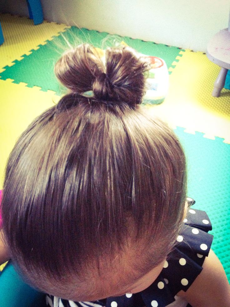 Cute baby girl bow bun hairstyle baby hairstyles little