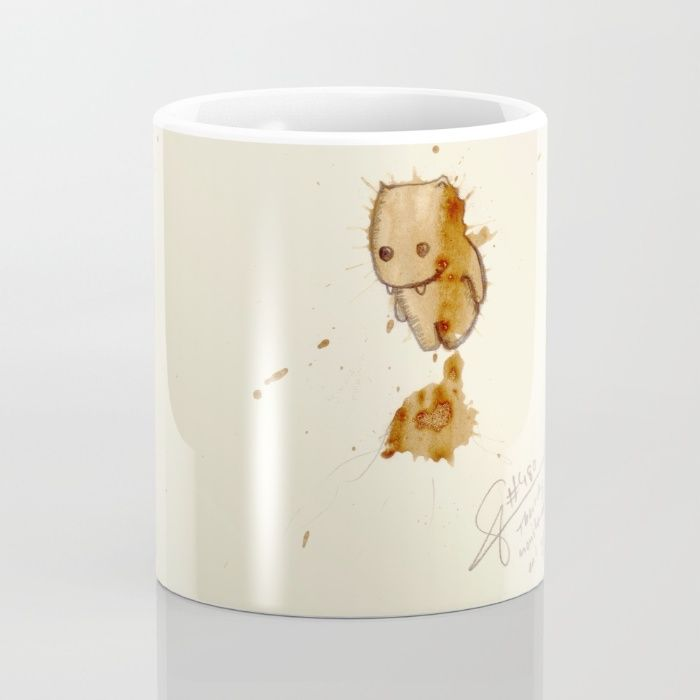 #coffeemonsters 480 Mug by The Coffeemonsters   Society6 funny and cool art coffee mug with monsters made from coffee stains