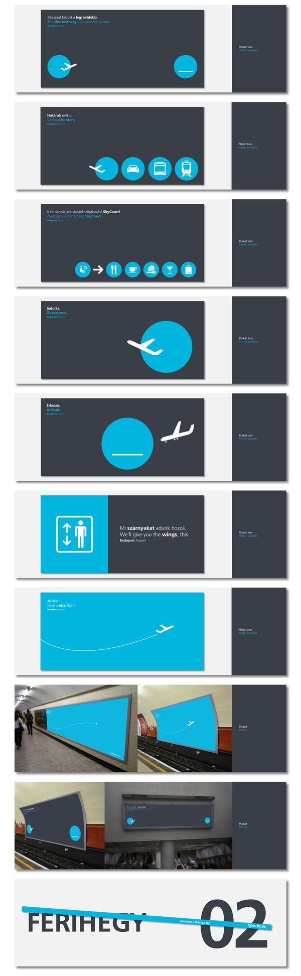 Absolutely brilliant use of symbols for Departures/Arrivals  BUD Terminal2 Graphics Concept / 2010 by kissmiklos , via Behance