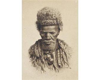 Portrait of a Zulu man By Gerard Bhengu