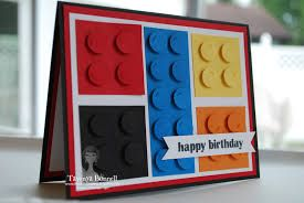stampin up lego card