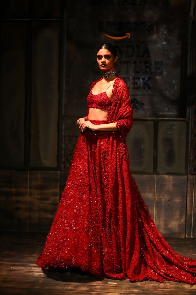 AICW2015 #sabyasachi #christianlouboutin my dream style of lehenga & dupatta for wedding/reception