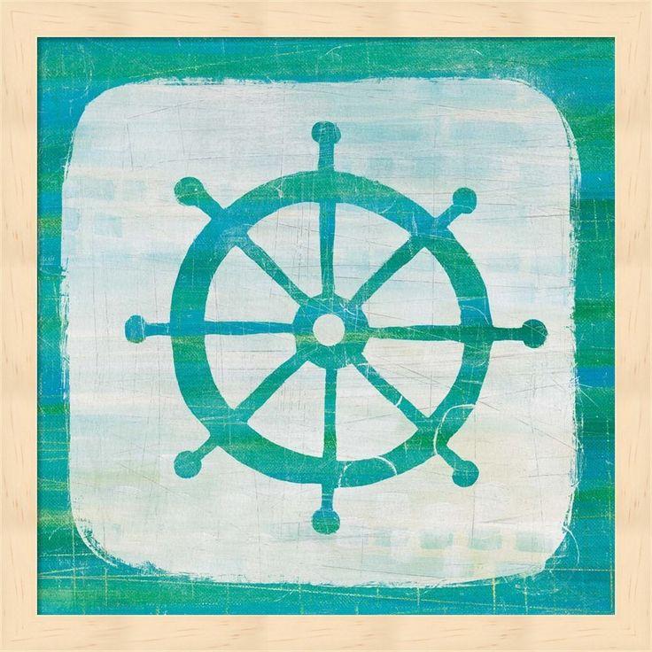 Melissa Averinos 'Ahoy IV Blue Green' Framed Art