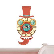 Mr clock 3d fai da te sticker orologio da parete design moderno movimento silenzioso home office decorazione della parete(China (Mainland))