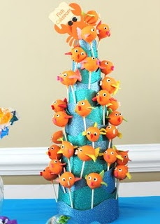 Fish Cake Pop cone Tower